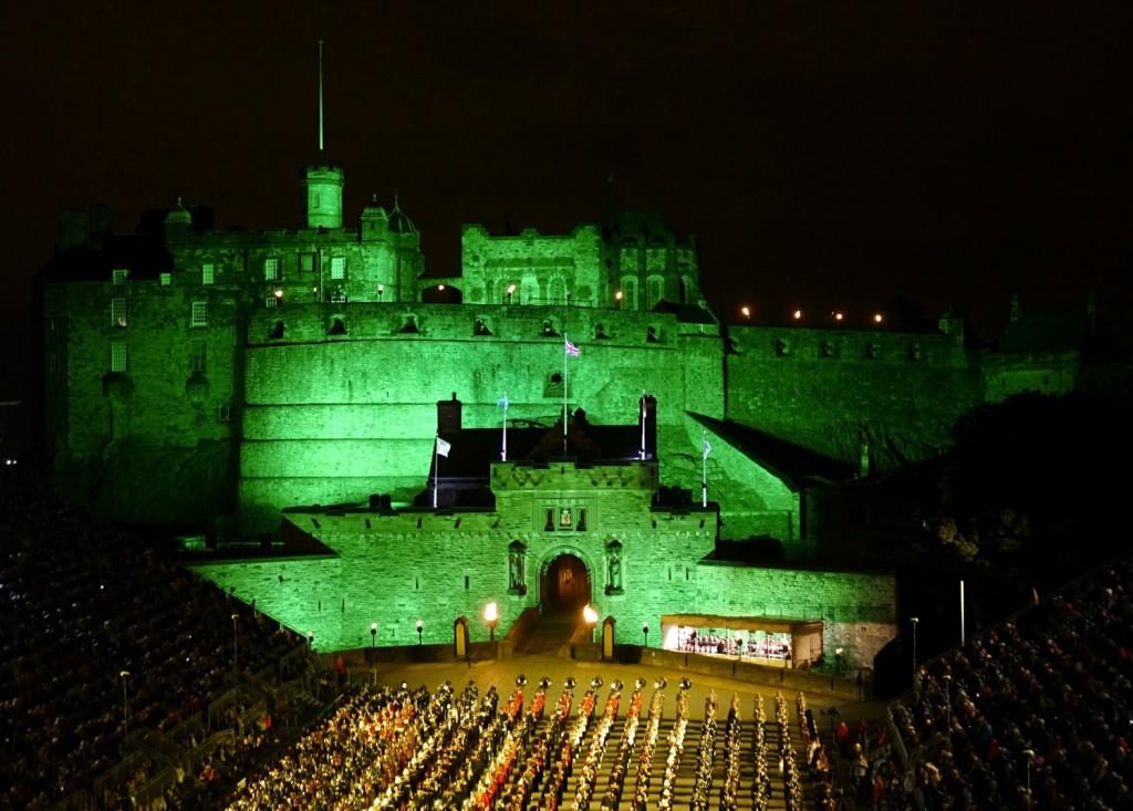 A very green Edinburgh Castle