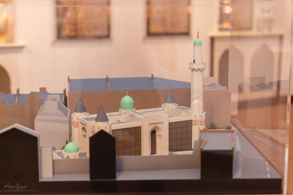A model of the Mosque in the exhibition.