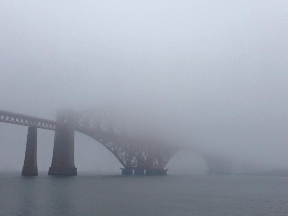 Forth Bridge hiding in the haar