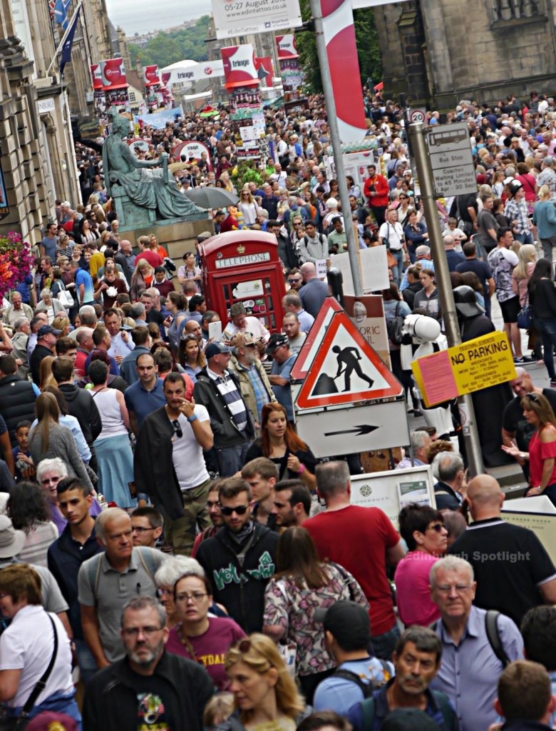 The Royal Mile was really busy in August