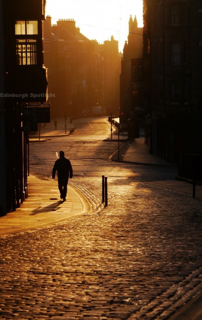 We got up early to catch the early morning light on the Royal Mile.