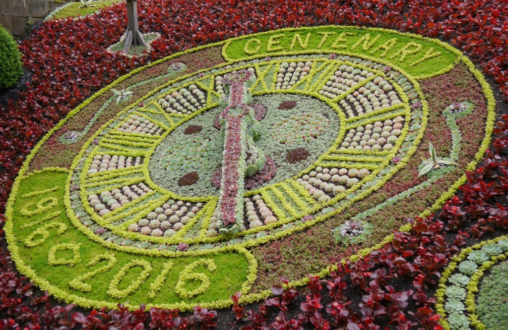 The Floral Clock was as beautiful as ever