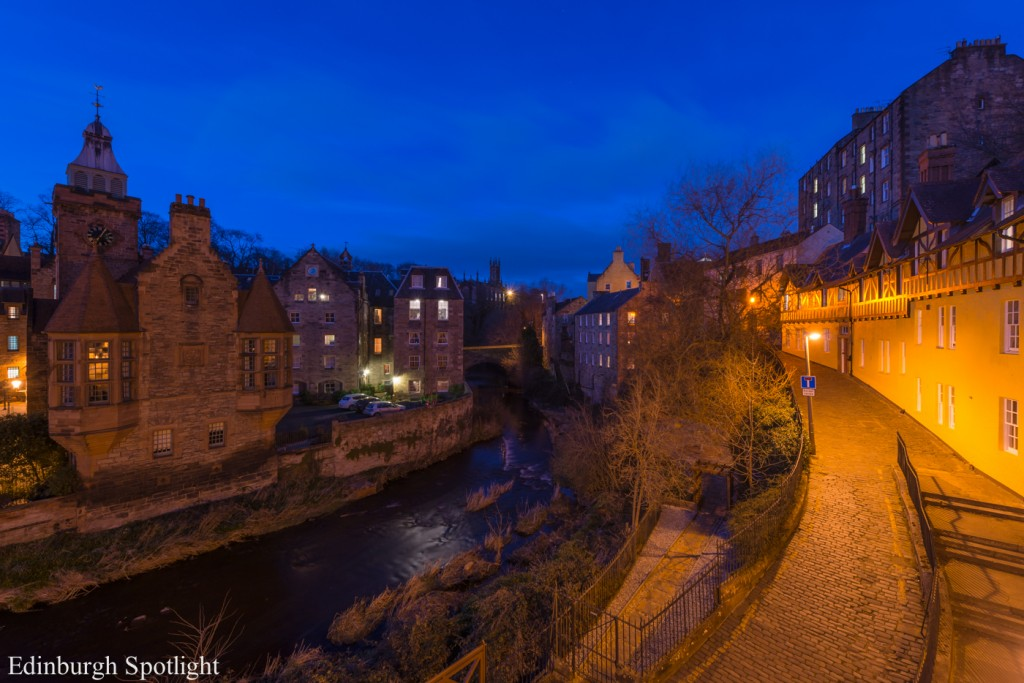 Dean Village in the blue hour.
