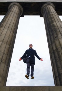 Levitation on Calton Hill. Credit Colin Hattersley.