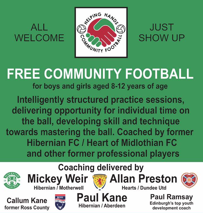 Free football coaching for kids in Edinburgh