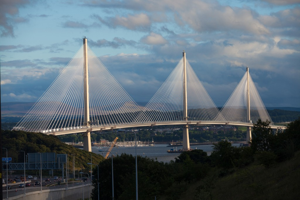 Queensferry Crossing from north approach road