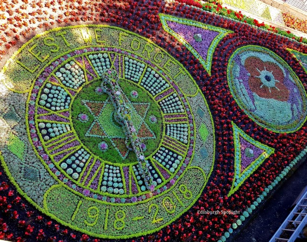 The 2018 Edinburgh Floral Clock