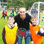 Scott Brown meeting local kids at the 2017 football sessions.  Photo credit: Edinburgh Helping Hands