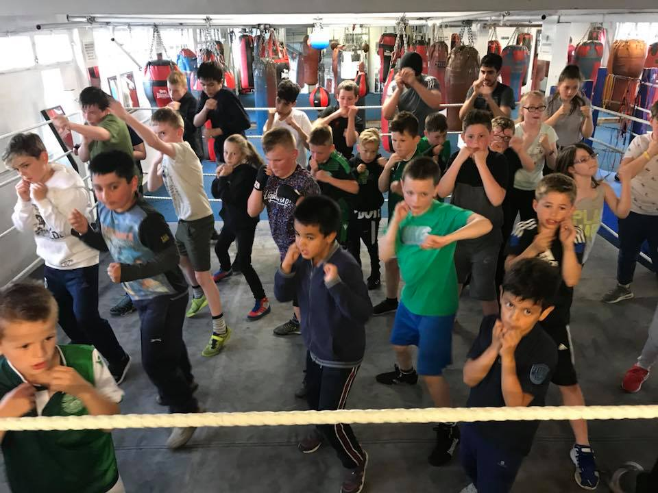 Kids' boxing fitness class Photo credit: Edinburgh Helping Hands