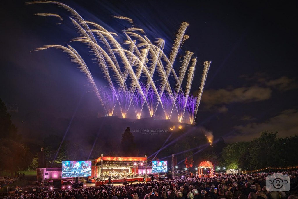 Edinburgh International Festival Fireworks 2018 by Dave Stewart