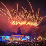 Edinburgh International Festival Fireworks 2018 by Dave Stewart